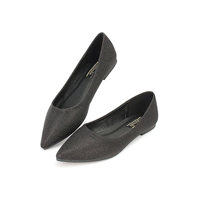Fashion Wohommes Pointed Toe Flats chaussures Single Boat Ballet Spring  Free Shipping  noir à prix pas cher    Jumia Maroc