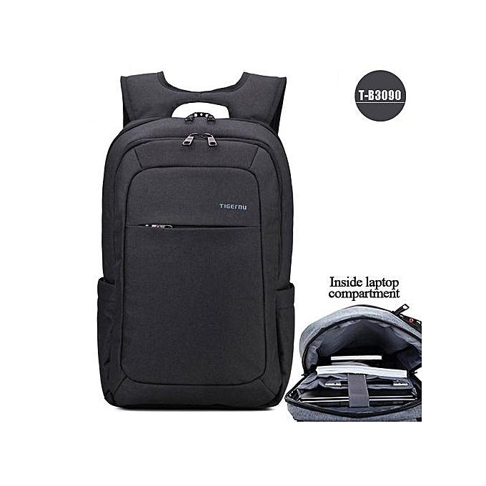 OEM Anti theft Hommes's Affaires Daily laptop sac à dos noir gris à prix pas cher