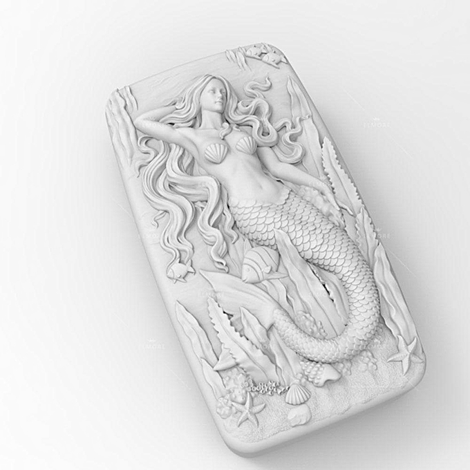 UNIVERSAL Soap Molds Silicone Craft Mermaid Flexible Soap Making Mould DIY Wax Resin Mold à prix pas cher