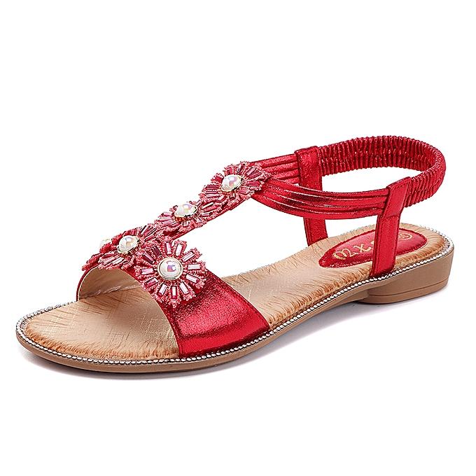 Fashion Bohemian Flowers T Strap Casual Comfortable Sandals à prix pas cher    Jumia Maroc
