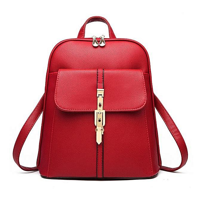 OEM femmes Leather Backpacks Schoolbags Travel Shoulder Bag WE à prix pas cher