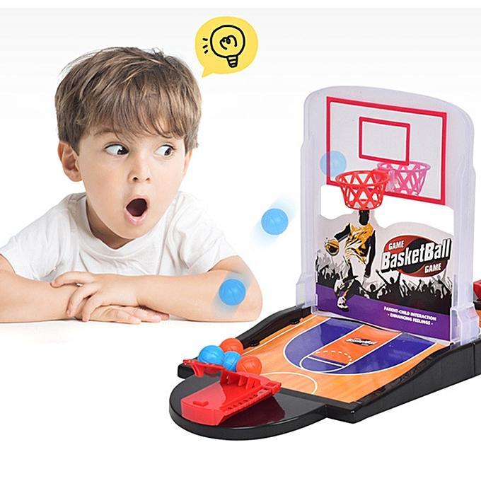 Generic Enfants Adults Table Basketball Mini Interactive Toy Hoop Net Ball Pump Play Set à prix pas cher