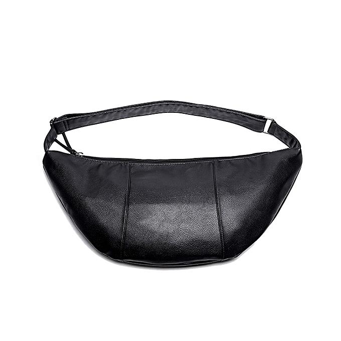 Fashion Men PU Casual Personality Plaid Shoulder Bag Crossbody Bag à prix pas cher