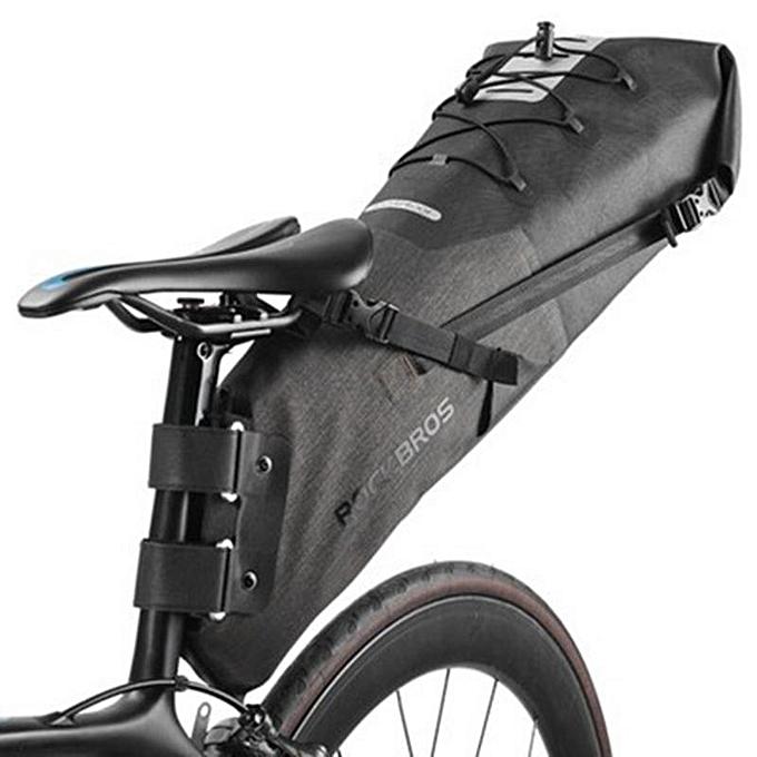 UNIVERSAL 10L Waterproof Bike Bicycle Saddle Bag Reflective Folding Tail Rear Bag Bike MTB Backpack à prix pas cher