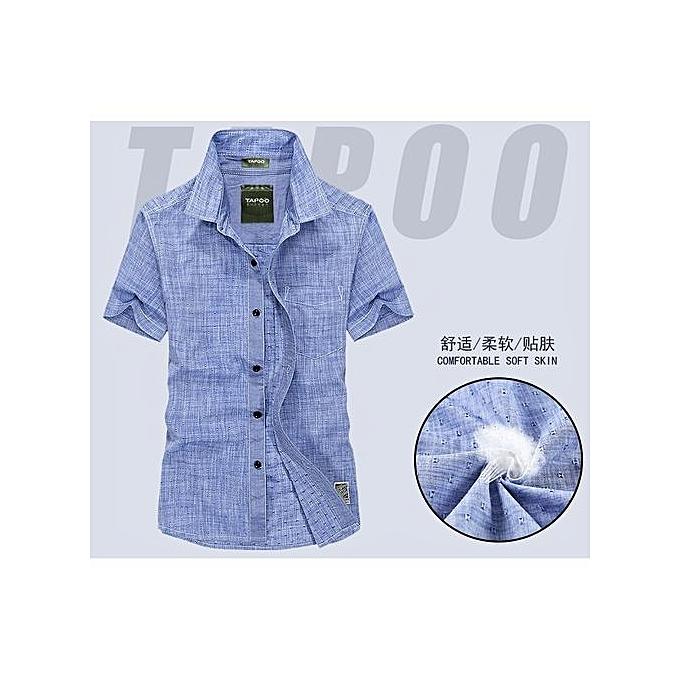 OEM nouveau Arrivel Male& 039;s Shirt TAPOO manche courted  Square Neck Shirt Solid Couleur à prix pas cher