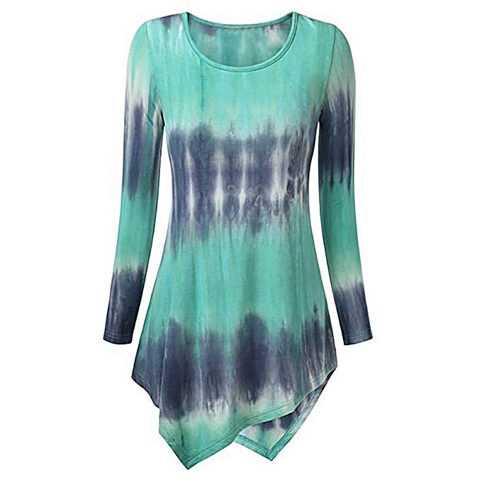 mode (Xiuxingzi) femmes mode O-Neck Print manche longue Loose hauts T-Shirt chemisier à prix pas cher