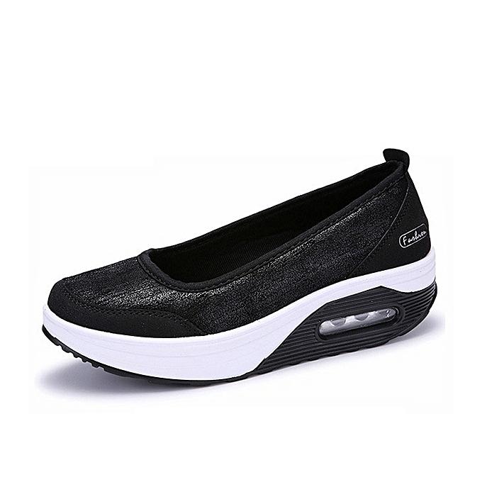Fashion Casual Rocker Sole chaussures Outdoor Sport Slip On Flats à prix pas cher    Jumia Maroc