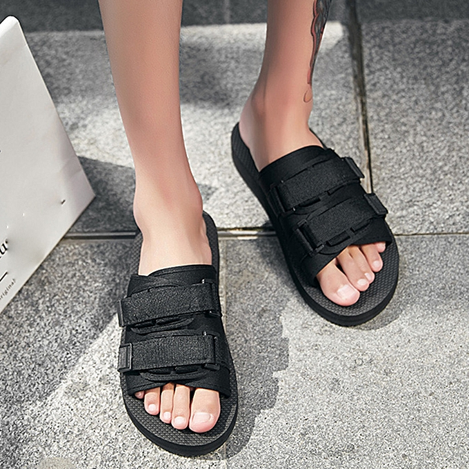 Fashion whiskyky store Summer Leisure  Couple's  Flip Flops  Flats Beach  Anti-Slip chaussures Post Slippers à prix pas cher