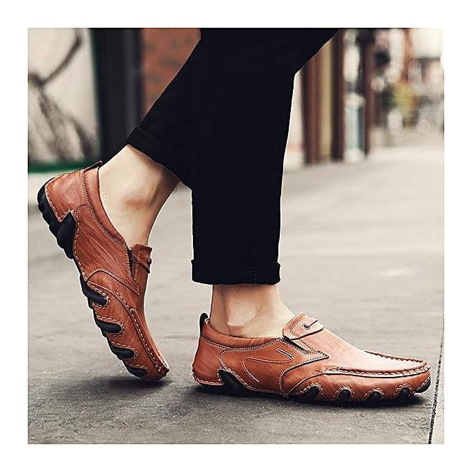 Fashion Fashion   Fashion  Stylish Wearable Slip On Driving Loafers Casaul Leather Shoes Flats-EU à prix pas cher  | Jumia Maroc 5f0f66