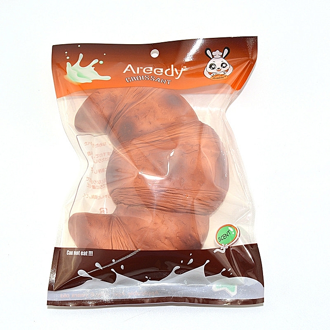 UNIVERSAL Areedy 18cm Croissant Squishy Scented Licensed Super SFaible Rising Bread With  Package- à prix pas cher