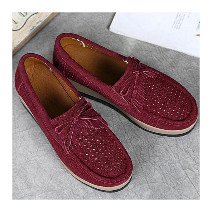 Fashion Fashion WoHommes WoHommes WoHommes  Hollow Out Breathable Bowknot Platform Shoes Closed-Toe Wedges-EU à prix pas cher  | Jumia Maroc 0bef35