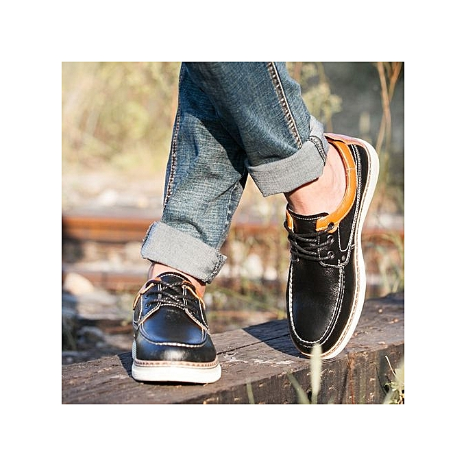 Pour En À Noir Chaussures Homme Tauntte Véritable Cuir qOpxI8Awz