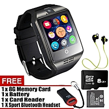 4db1d19ce Q18 Wristband Touch Screen Smart Watch SIM And TF Card Smart Band Bluetooth  MP3 MP4 Camera