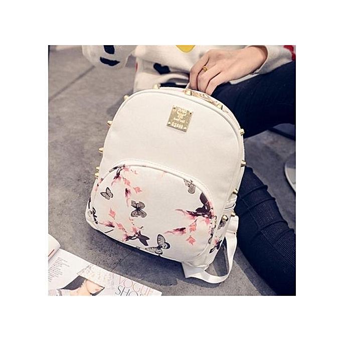 nouveauorldline Girl School sac voyage Cute sac à dos Satchel femmes Shoulder sac à dos blanc-blanc à prix pas cher