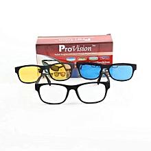 05b14f42bb Magic Vision MK Aimant à changement rapide polarisé 3-en-1 pour lunettes de