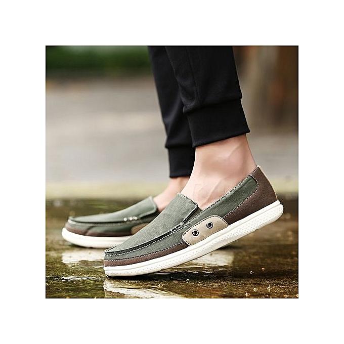 Fashion  s Canvas Loafer Flats Comfortable Driving à Shoes Plus Size-Khaki à Driving prix pas cher  | Black Friday 2018 | Jumia Maroc 0af40e
