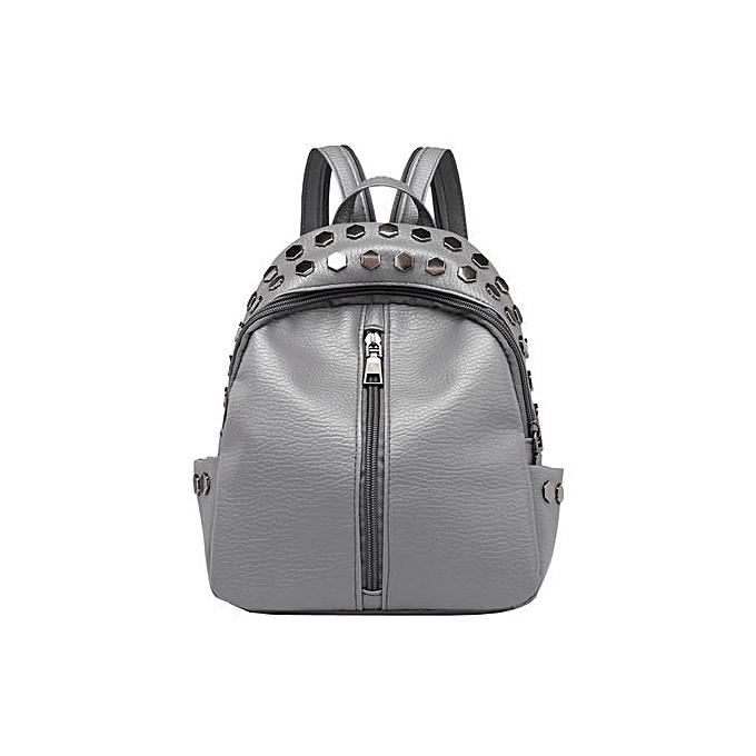 mode Tectores Vintage Wohommes Rivets cuir sac à dos Satchel voyage School sac à dos sac à prix pas cher