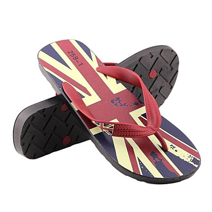 Fashion (Xiuxingzi) Man Rice flag Flip-flops Slippers Men Beach Sandals Summer Home Slippers RD 40 à prix pas cher    Jumia Maroc