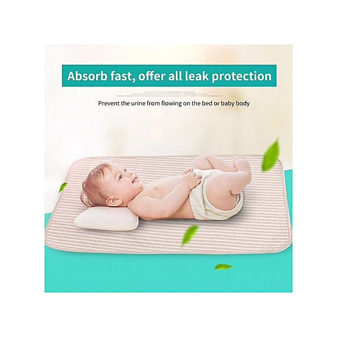 Other Baby Cotton Urine Mat Diaper Nappy Bedding Changing Cover Pad (M) à prix pas cher