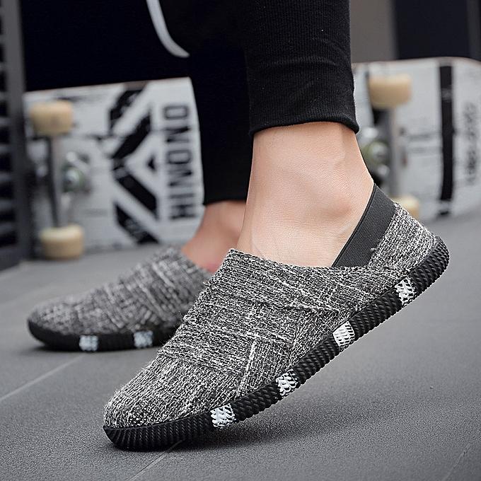Fashion Linen canvas chaussures hommes casual hommes chaussures noir à prix pas cher    Jumia Maroc