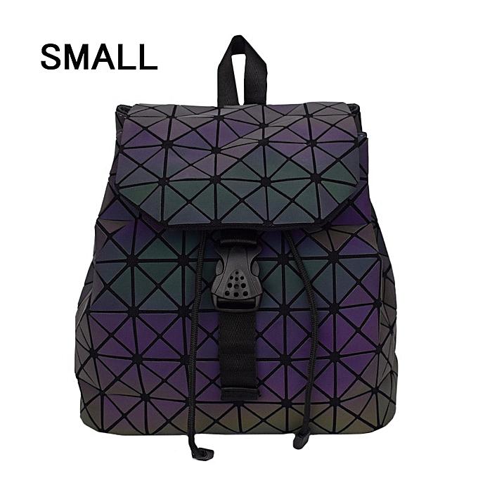 Other mode femmes sac à doss Female Shoulder sac Girl Daily sac à dos Geometry School Folding sac voyage School sacs Hologram(petit A) à prix pas cher