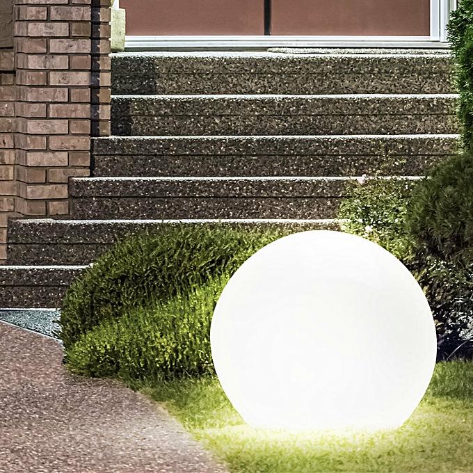 Boule lumineuse snowball diametre 300mm blanche e27 avec for Diametre interieur