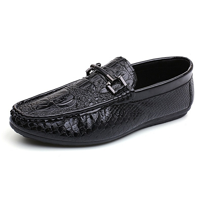 Other Man's New In Spring and Summer Korean Crocodile British baskets Bean chaussures-noir à prix pas cher