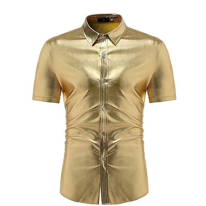 mode jiuhap store mode Hommes Slim Fit  manche courte Solid Muscle Tee T-shirt Décontracté hauts chemisier à prix pas cher