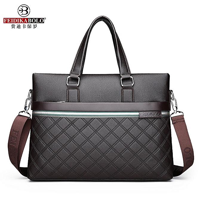 Other Clic Plaid Design Business Man Bag Vintage Brand Men's Messenger Bag Casual Business Male Shoulder Bags For Male bolsa Hot(marron Only Handbag) à prix pas cher