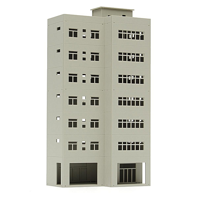 UNIVERSAL Outland Modern Business Office Building 1 87 For HO Gauge Model Train Layout à prix pas cher