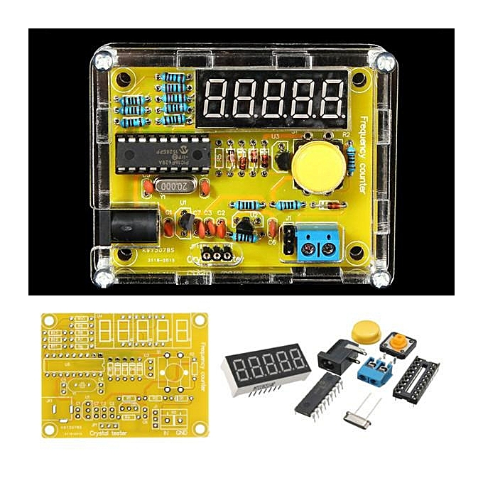 UNIVERSAL 1Hz-50MHz Crystal Oscillator Frequency Tester Meter Counter Digital LED Kit Case à prix pas cher
