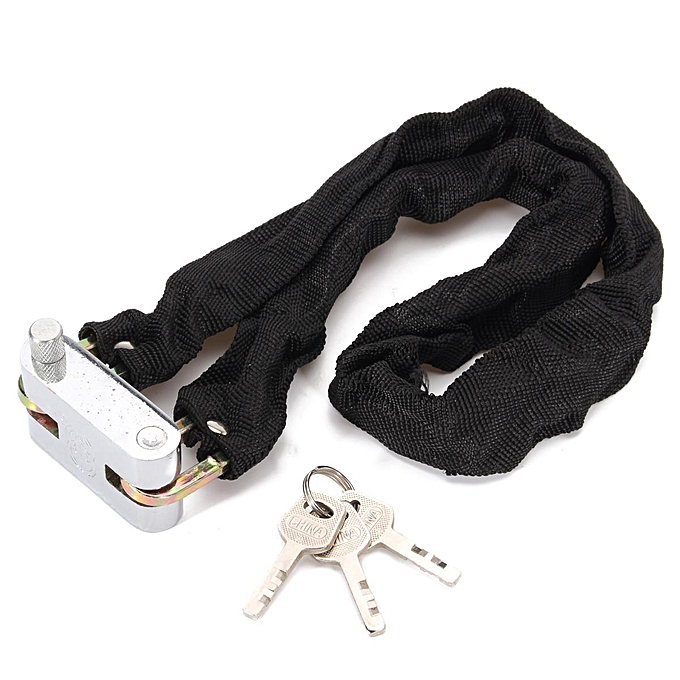 UNIVERSAL Bicycle Bike Anti-Theft Motorcycle Security Steel Lock Chain +3 Key   80cm à prix pas cher