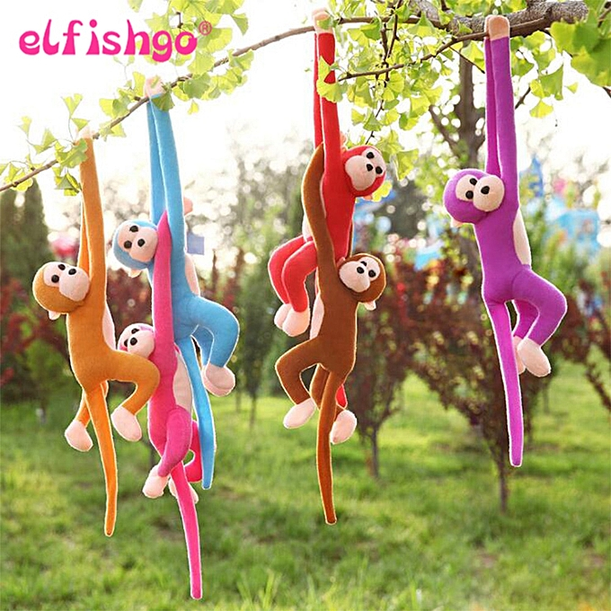 Autre 60CM Kawaii Long Arm Tail Monkey Stuffed Doll Plush Toys Curtains   Sleeping Appease Animal Doll Birthday Gifts(rouge) à prix pas cher