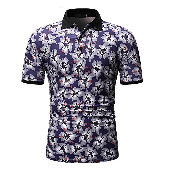 mode whiskyky store Hommes été mode manche courte Shirt impression Décontracté Sports Top chemisier à prix pas cher