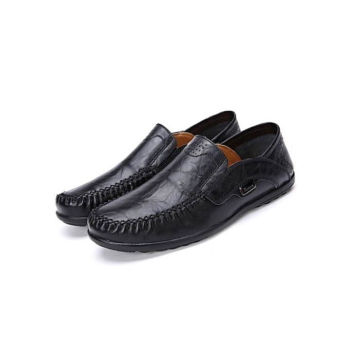 Fashion  s Slip-On Leather pas Shoes-Black à prix pas Leather cher  | Black Friday 2018 | Jumia Maroc c86e07