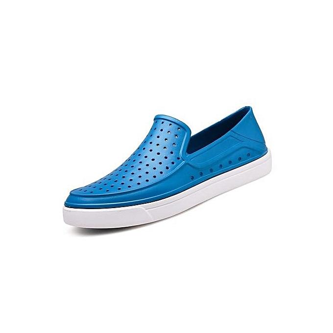 OEM nouveau style Super grand Taille Hommes's sandals plage respirant quick-drying slippers hommes hole chaussures -bleu à prix pas cher