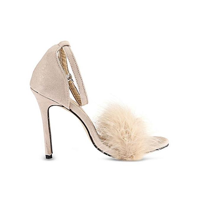 BaiBeiQi BaiBeiQi BaiBeiQi BaiBeiQi Feather Open Toe   Thin High Heel Sandals à prix pas cher  | Jumia Maroc fcca96