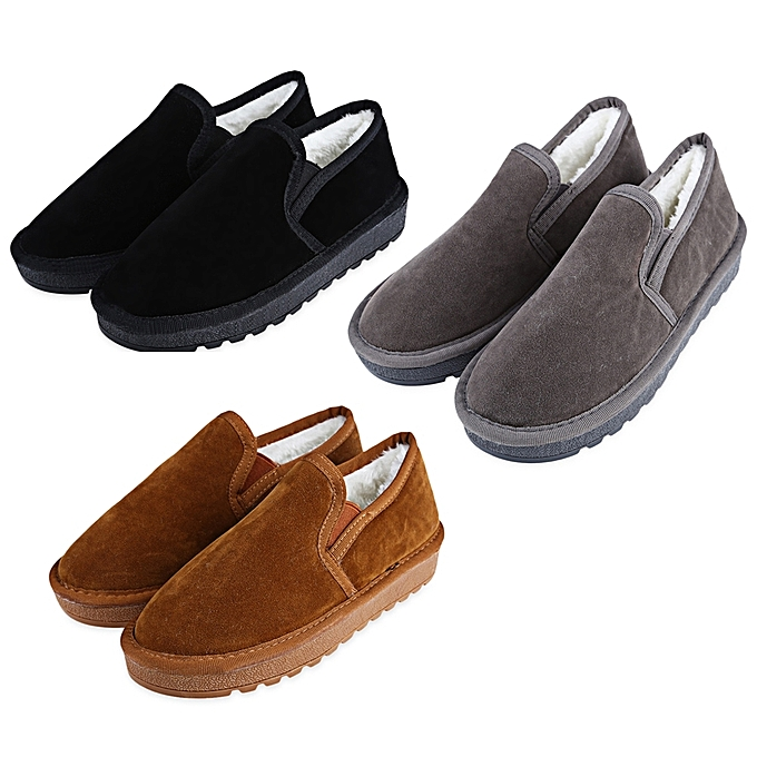 Fashion Casual Pure Color Round Toe Toe Toe Slip On   Warm Cotton-padded Shoes à prix pas cher  | Jumia Maroc f6f848