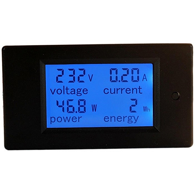 UNIVERSAL PZEM-021 4 in 1 LCD Voltage Current Active Power Energy Meter bleu Backlight Panel à prix pas cher