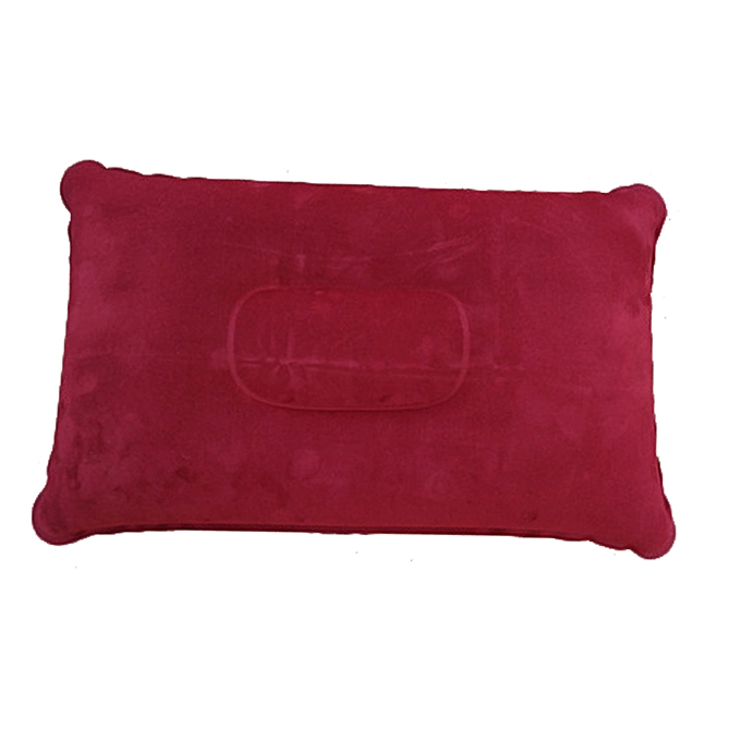 Generic New Inflatable Portable Outdoor Air Pillow Double Sided Flocking Cushion Travel Plane Hotel Sleep Camping Hiking Air Mattress(Jujube rouge) à prix pas cher