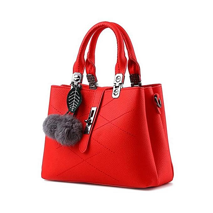 UNIVERSAL femmes Quality PU Leather Functional Handbag Shoulder Bag Crossbody Bags  rouge à prix pas cher