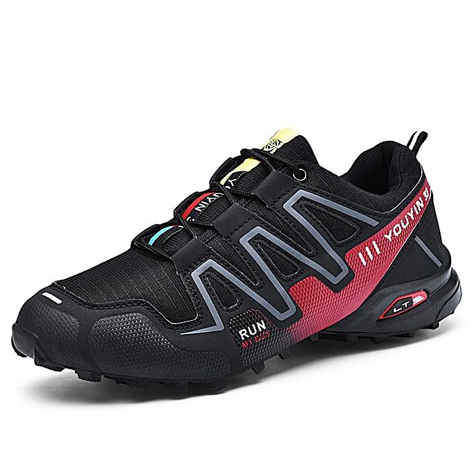 Fashion Mens Outdoor Hiking chaussures Climbing Sports baskets noir rouge à prix pas cher