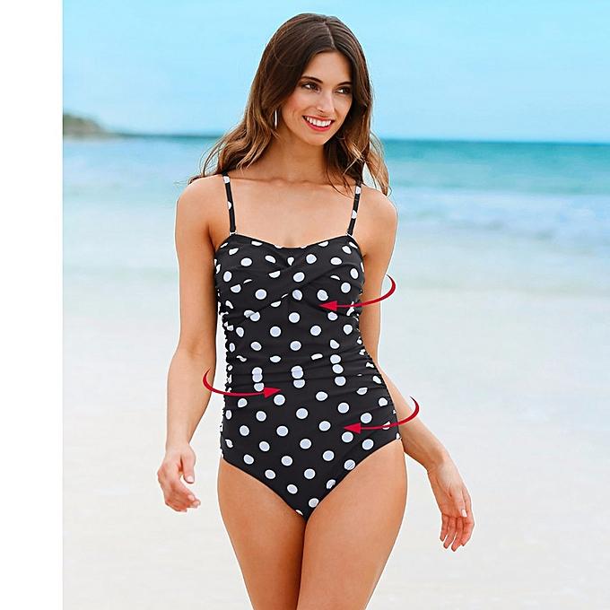 Autre New Taille Swimwear Swimsuit femmes Patchwork Slimming Retro Bathing Suits Female Large Swim Wear(X020DO) à prix pas cher