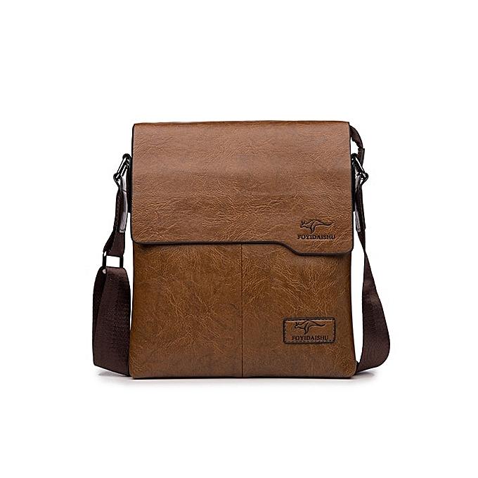 Other Promotion Famous Brand Vintage Fashion Man Leather Messenger Bag Male CrossBody Shoulder Business Bags For Men(marron) à prix pas cher