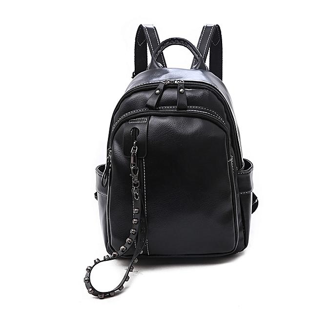 Other mode Décontracté Pu sac à dos School sacs for Teenage Shoulder sac Girls Female Soft Multi-function mode Soft PU cuir sac(noir JY481) à prix pas cher