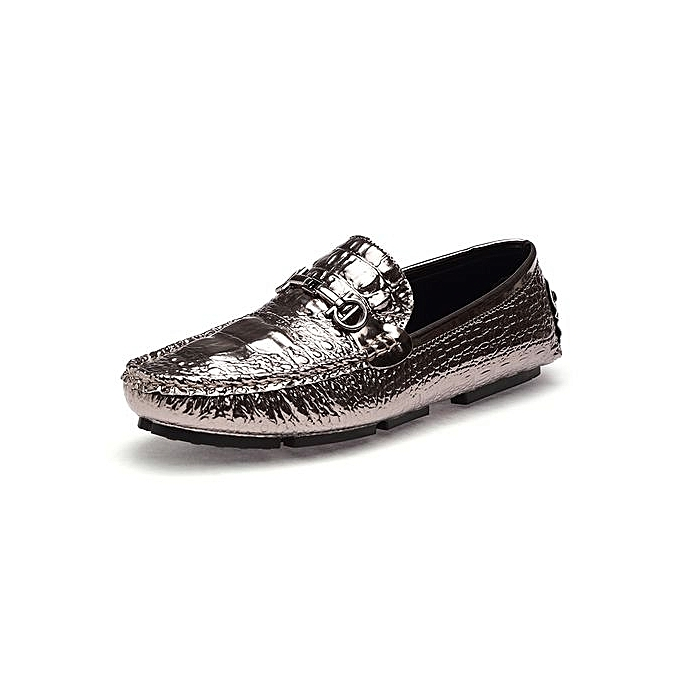 Fashion   New Casual Fashion Loafers Outdoor Outdoor Loafers Travel Leather Shoes Size 38-44-GOLDEN à prix pas cher  | Jumia Maroc 05654b