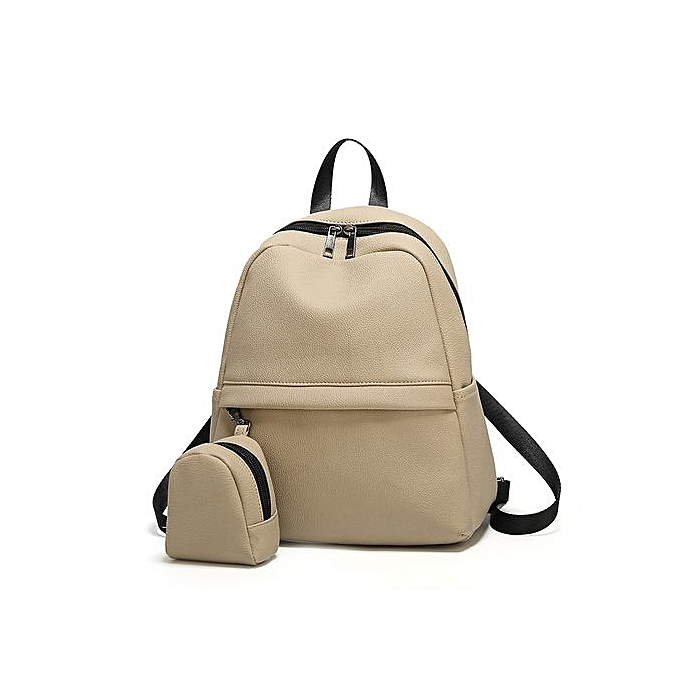 Fashion Multi-function Backpack 2 In One For femmes Travel Bags School College Bag Casual-khaki à prix pas cher