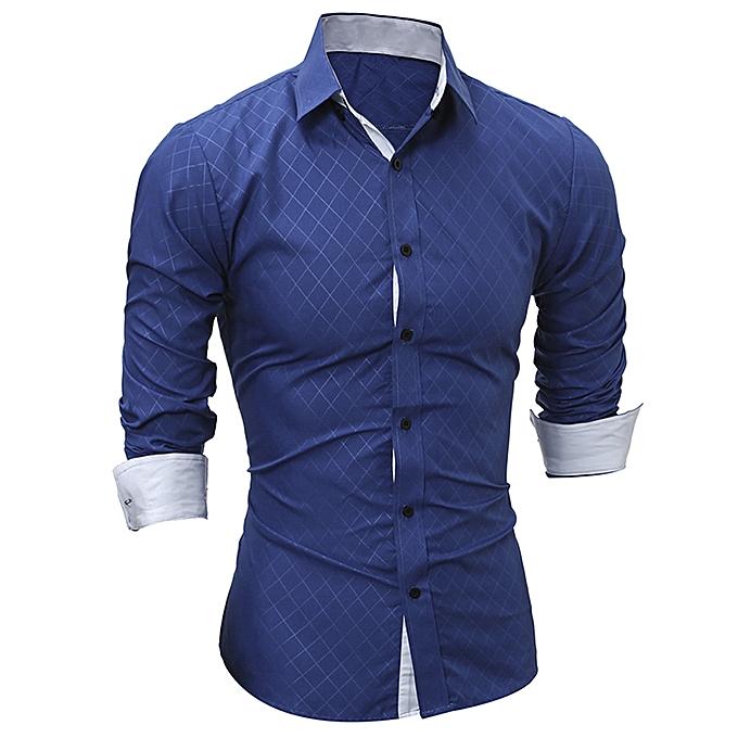 mode meibaol store Hommes mode impression Hommes& 039;s Long-sleeved T-shirt   à prix pas cher