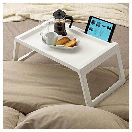 autreplateau pour petit d jeuner au lit pliable blanc. Black Bedroom Furniture Sets. Home Design Ideas