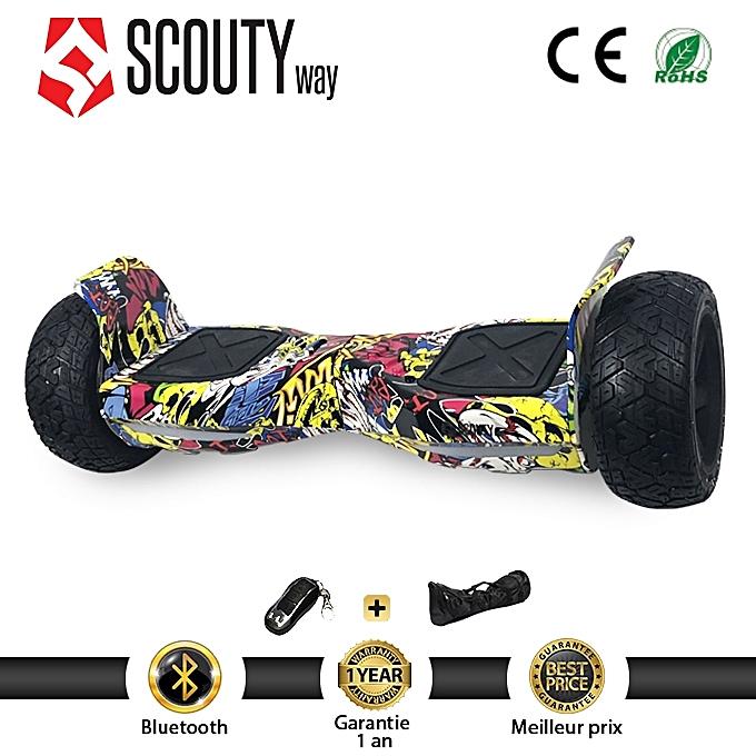 Scoutyway Hoverboard Tout Terrain 4x4  avec bleutooth Sac Télécommande-Graffiti-Garantie 12 Mois à prix pas cher